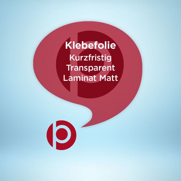 Klebefolie Kurzfristig Transparent Laminat Matt Freier Konturschnitt