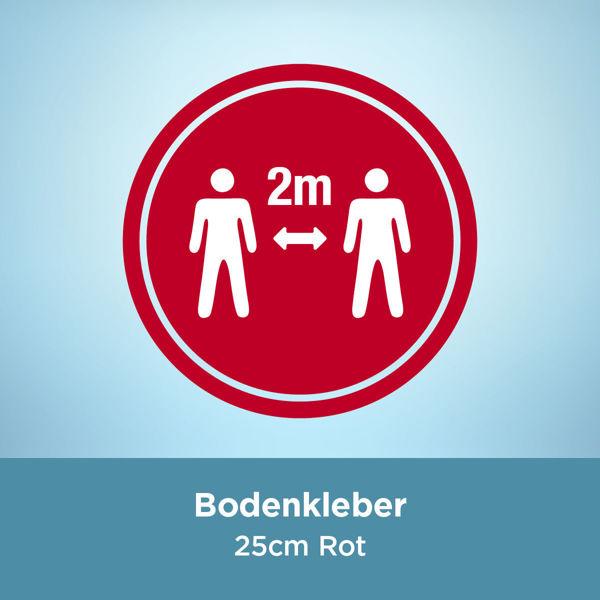Bodenkleber COVID 2 Meter / 25cm Rot