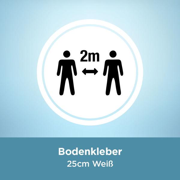 Bodenkleber COVID 2 Meter / 25cm Weiß