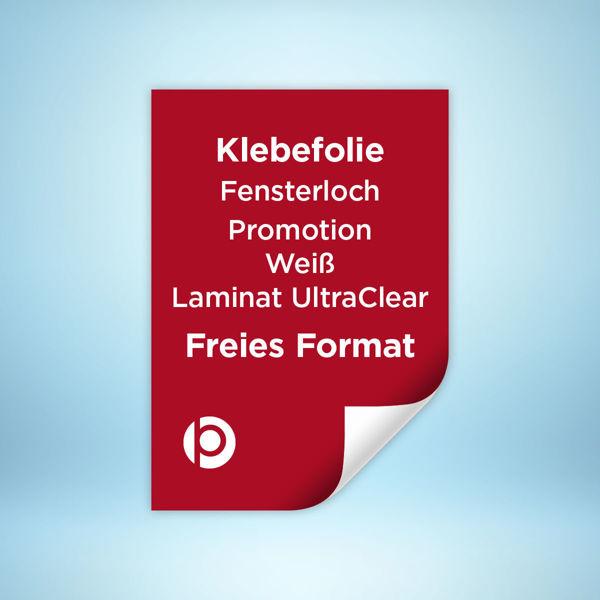 Fensterlochfolie Promotion Laminat Ultra Clear